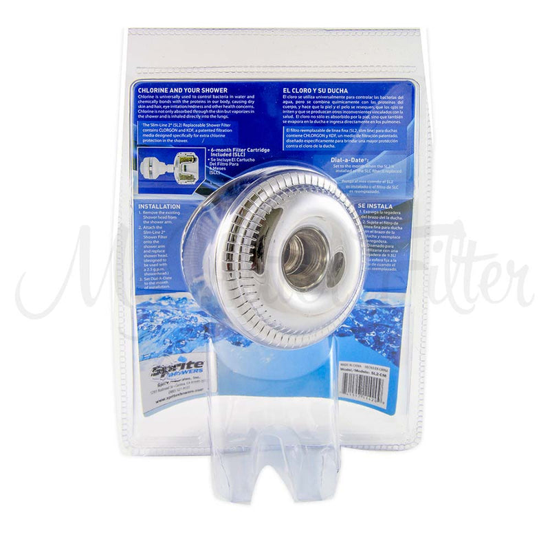 Sprite Slimline Shower Filter - Chrome-White