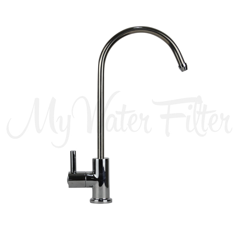 New Retro Long Reach Water Filter Faucet - Chrome
