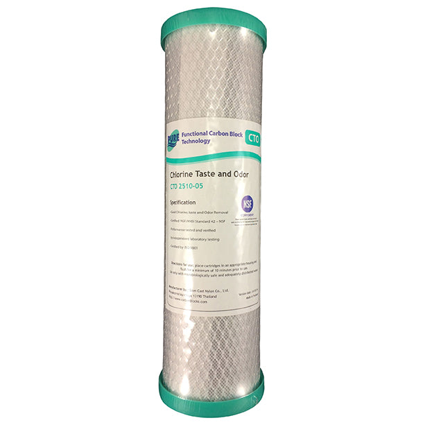 "Pure CTO Coconut Carbon Block Water Filter Replacement Cartridge 10"" x 2.5"""