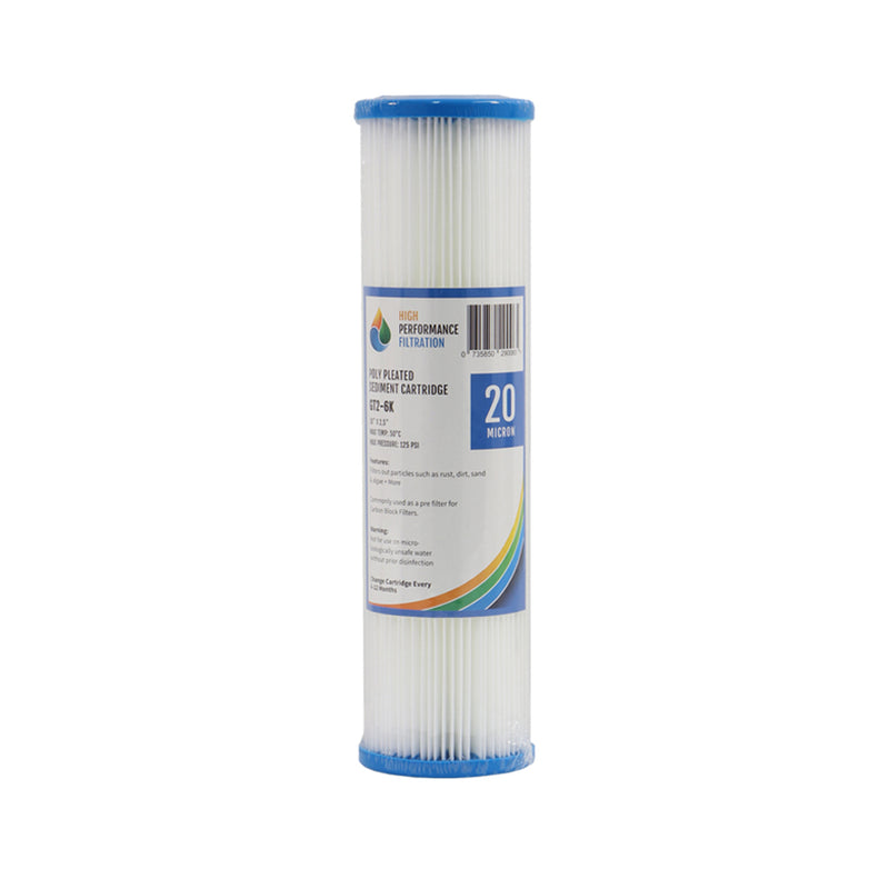 "Replacement Cartridge Pack for Triple Stage 10"" Under Sink Water Filter System with Ultraviolet Light and pH Neutralisation for Untreated Water"