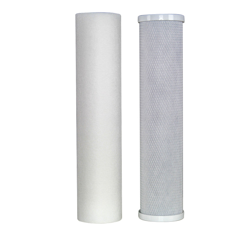 "Replacement Cartridge Pack for MWF 20"" x 4.5"" Twin Big Blue Whole House Water Filter System"
