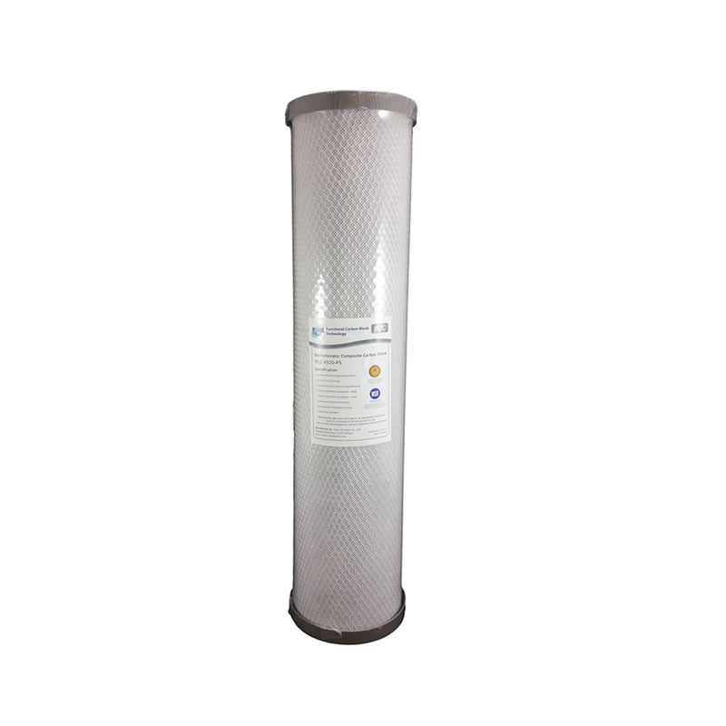 "Pure BCC Silver Impregnated Carbon Block Whole House Water Filter Replacement Cartridge 20"" x 4.5"""