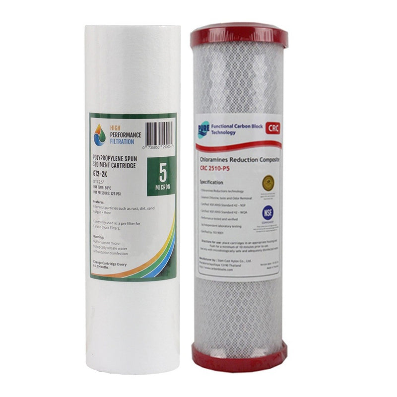 Replacement Cartridge Pack for the HPF 5 Stage Reverse Osmosis Water Filter System with Alkaliser