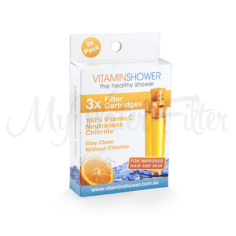 3 x Vitamin C Shower Filter Replacement Cartridges
