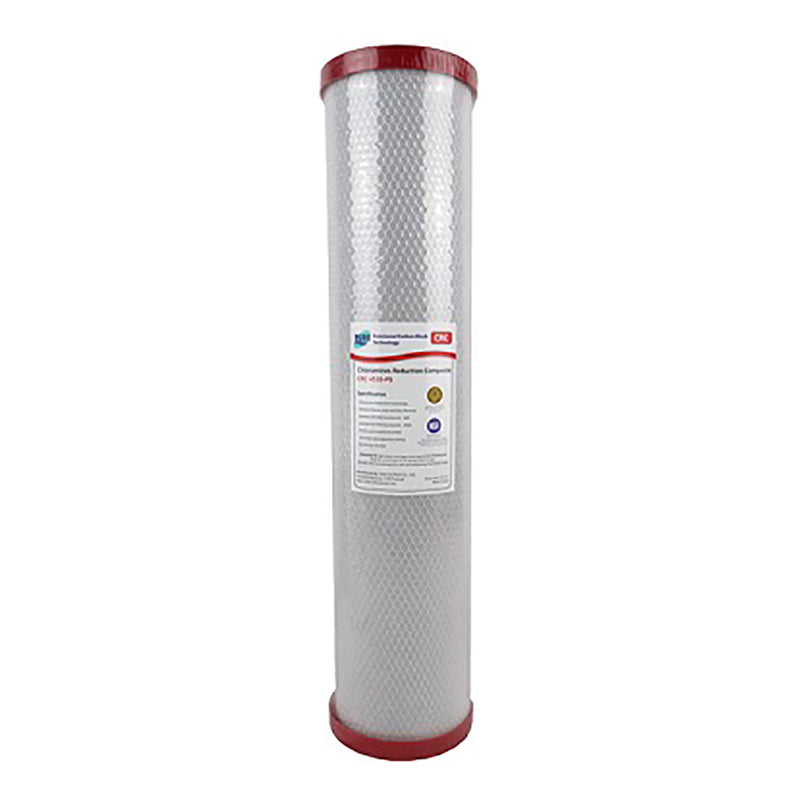 "HPF 20"" x 4.5"" Triple Big Blue Whole House Chloramine Reduction Water Filter System"