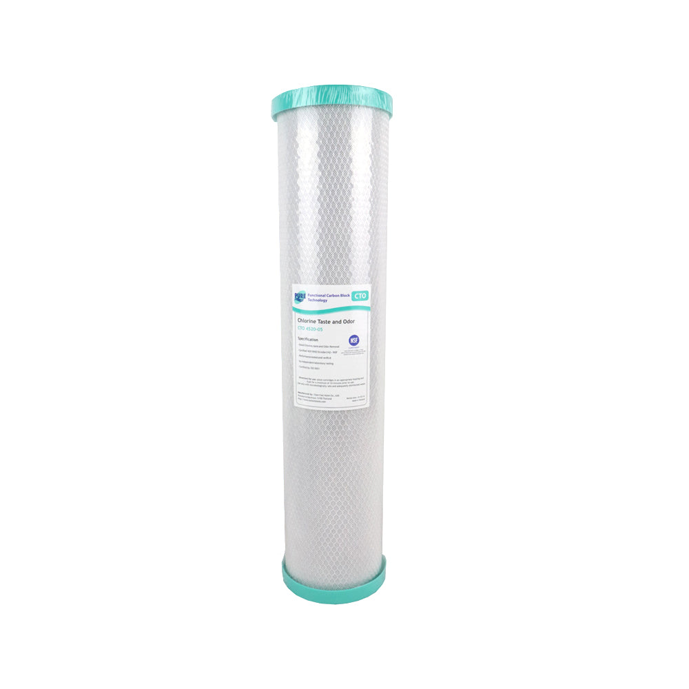 Pure CTO 5 Micron Carbon Block Whole House Water Filter Replacement Cartridge 20