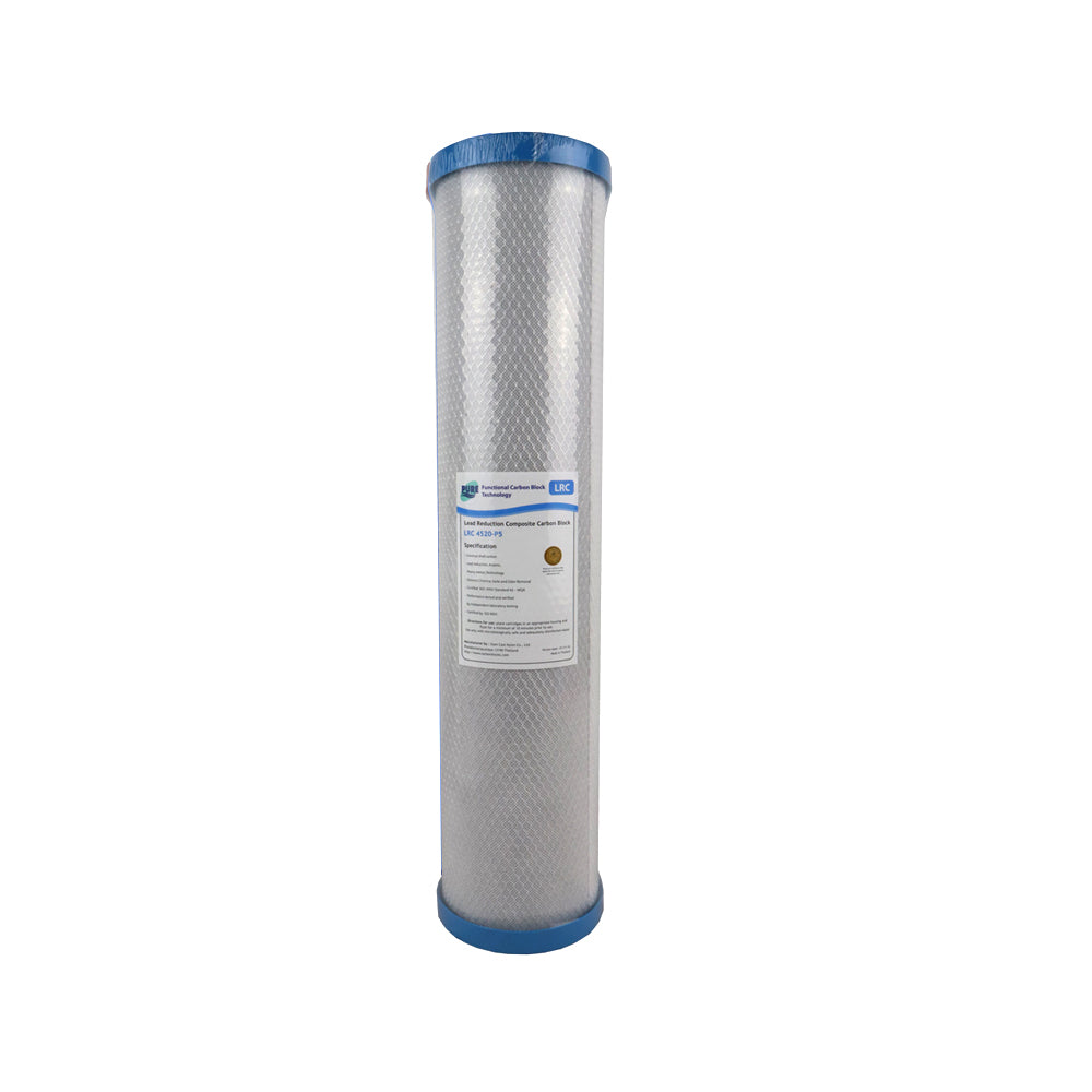 Pure LRC 0.5 Micron Heavy Metal & Lead Reduction Carbon Block Whole House Water Filter Replacement Cartridge 20