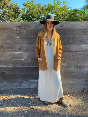 Long Perfect Dress In Natural Linen