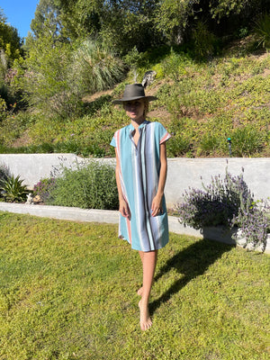 Travel Dress in Seaside Serape