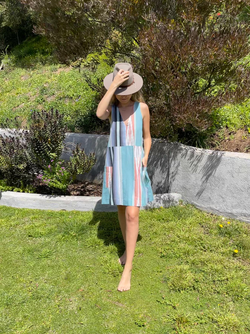 Summer Daze Dress in Seaside Serape