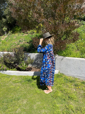 Nomad Dress in Royal Ikat