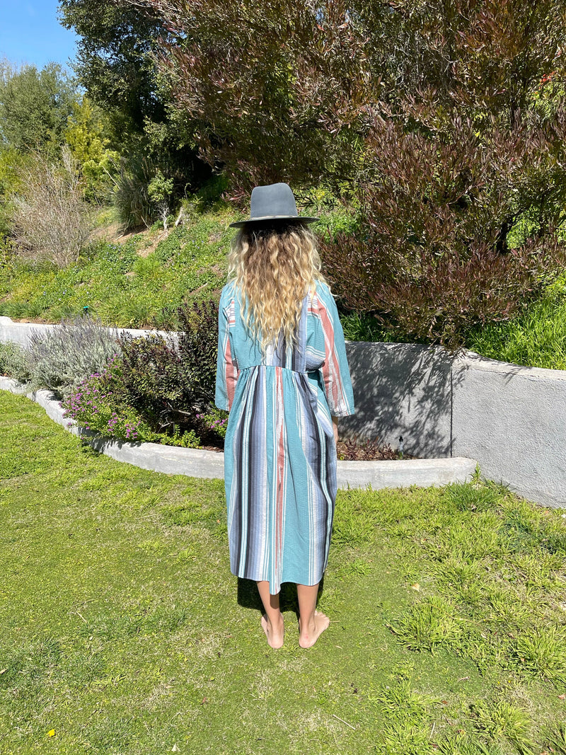 Getaway Dress in Seaside Serape