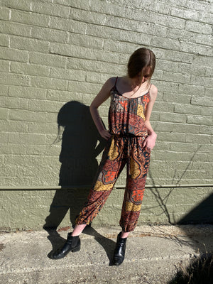 Claudette Jumpsuit in Adventure Awaits