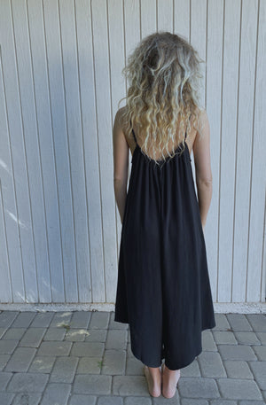 Sonoma Playsuit In Black Linen