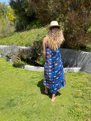 Sonoma Playsuit In Royal Ikat