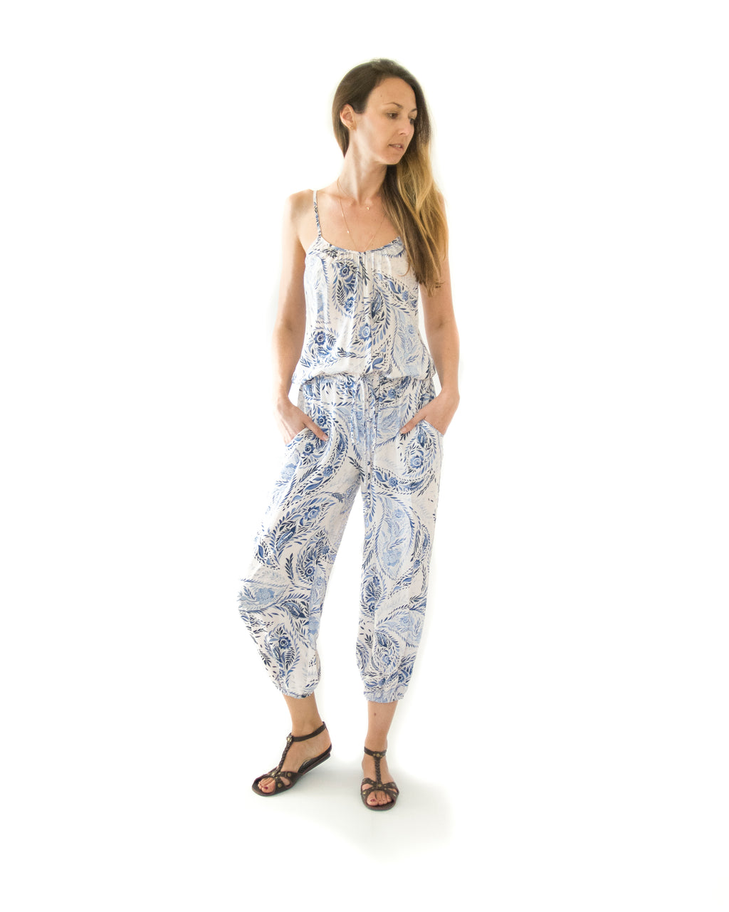 Claudette Jumpsuit in Riviera