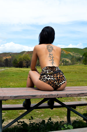 Of Earth & Salt High Waisted Undies in Leopard