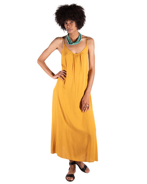 Long Perfect Dress in Citrine