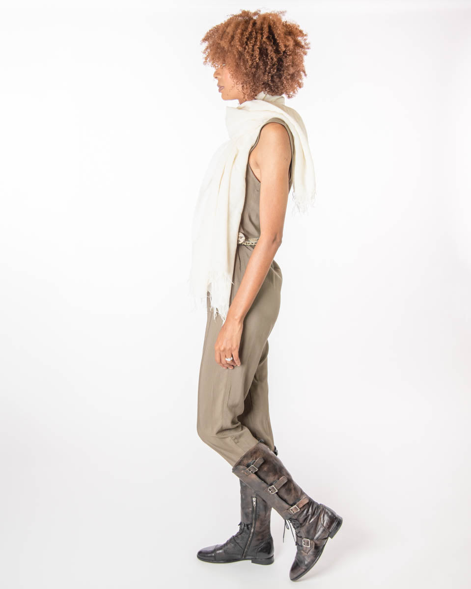 Shepherdess Playsuit in Olive