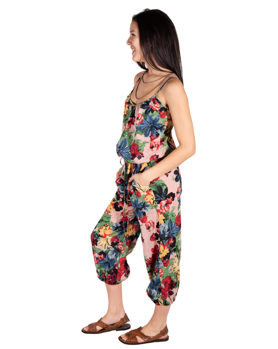 Claudette Jumpsuit in Monet's Garden