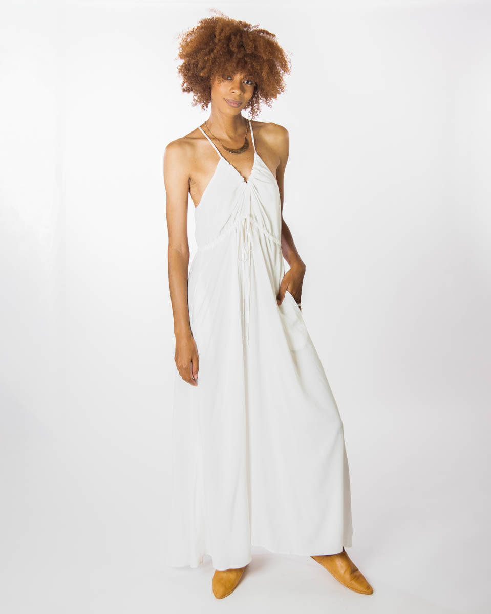 Capri Dress in Off White