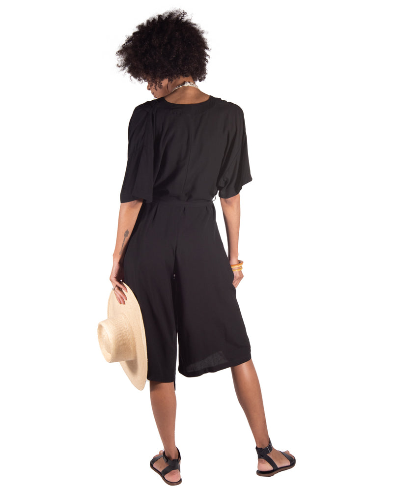 French Market Playsuit in Black