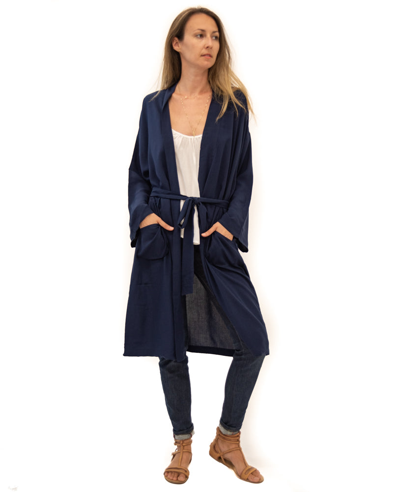 Lounge Robe in Navy