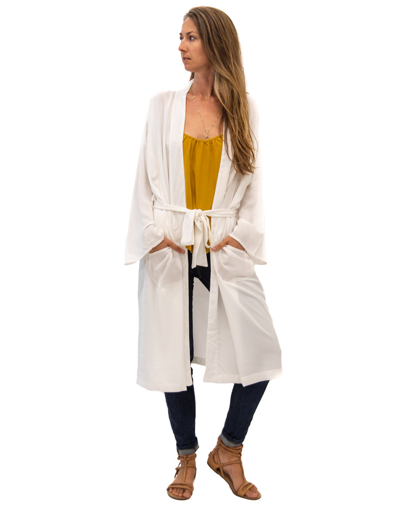 Lounge Robe in Off White