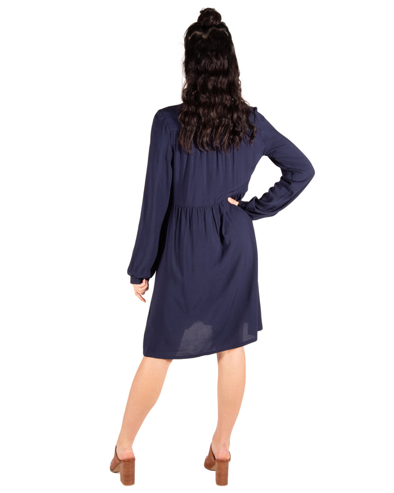 Ocean Breeze Dress in Navy