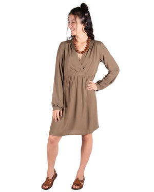 Ocean Breeze Dress in Olive