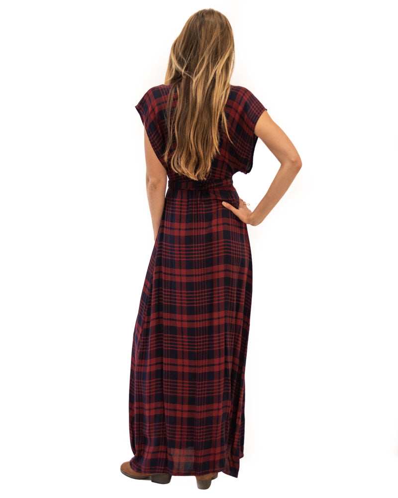 Garbo Dress in Highland Red