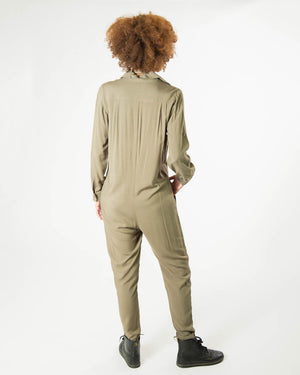 Yes We Can Jumpsuit in Olive