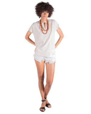 Travel Top in Natural Linen