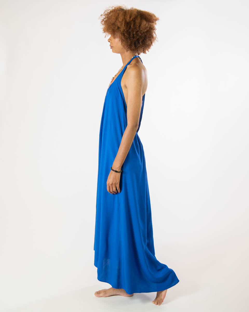 Wanderlust Dress in Majorelle Blue