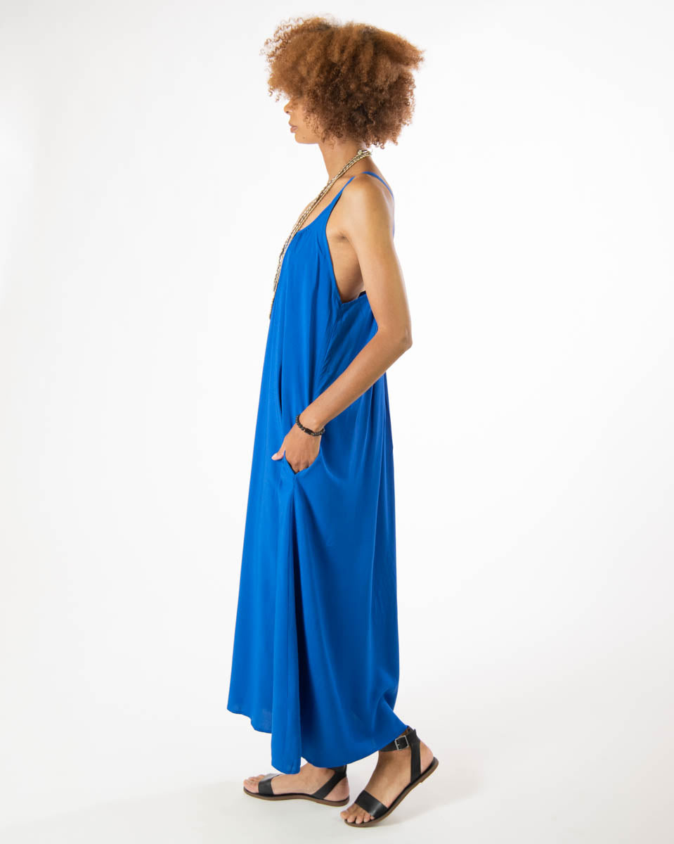 Eagle Dress in Majorelle Blue