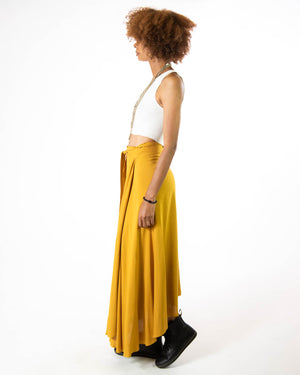 Wrap Skirt in Citrine