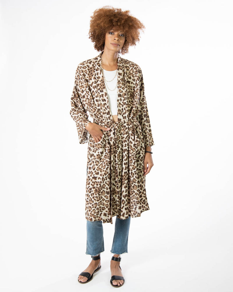 Lounge Robe in Leopard