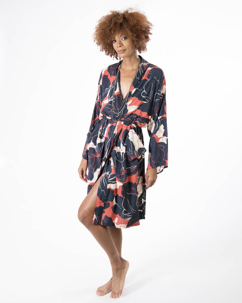 Lounge Robe in Black Beauty