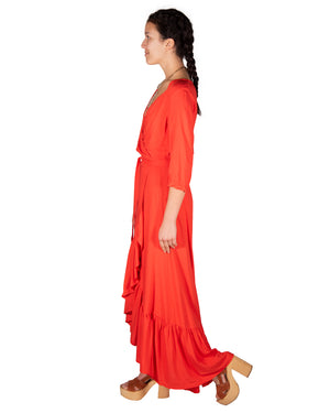 Spanish Dancer Dress in Tangerine