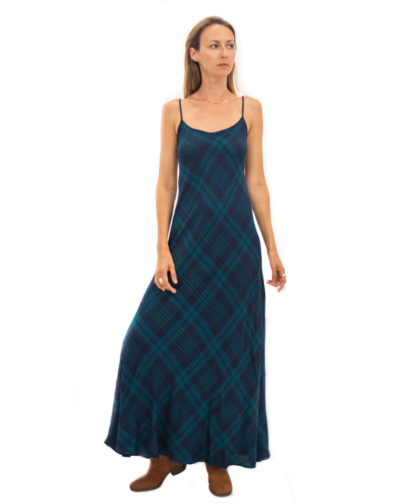 Deer Creek Dress in Highland Green