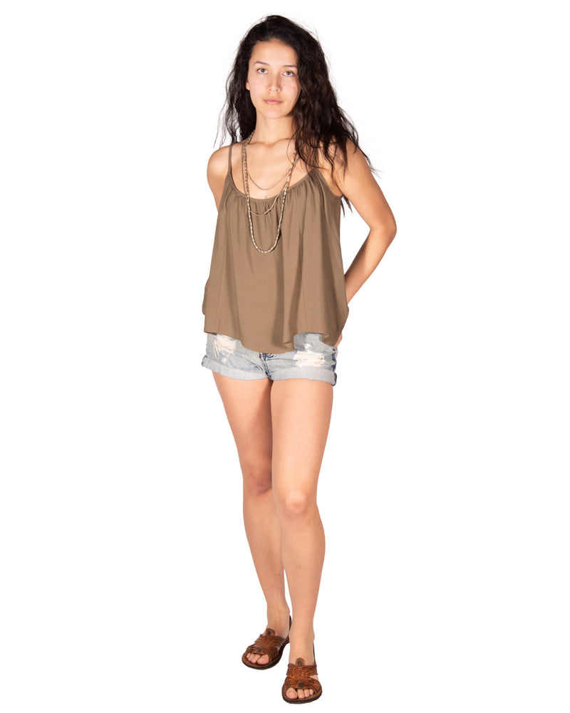 Gold Dust Tank in Olive
