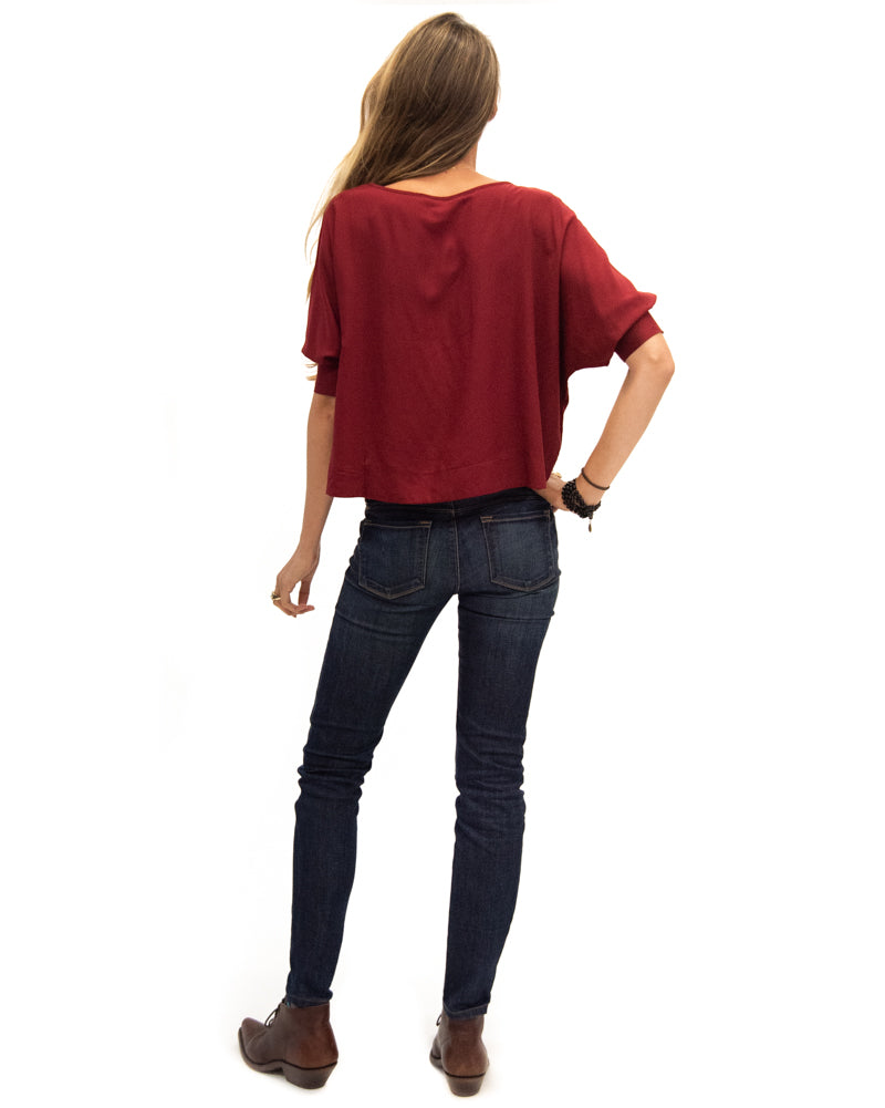 Botero Blouse in Ruby