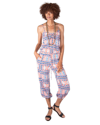 Claudette Jumpsuit in Indigo Seas