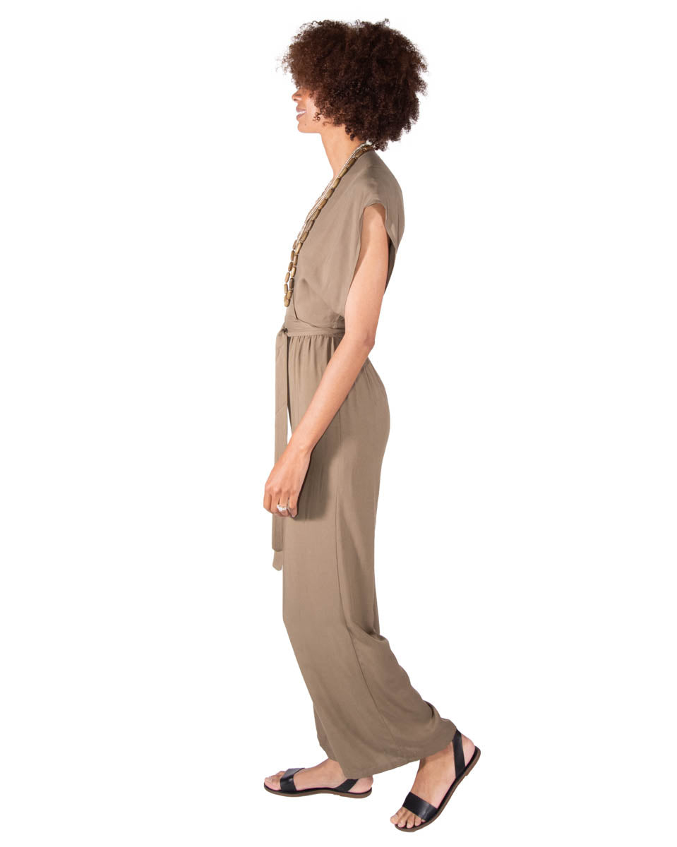 Garbo Jumpsuit in Olive
