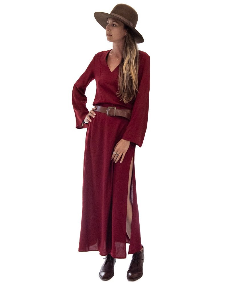Seaside Kaftan in Ruby