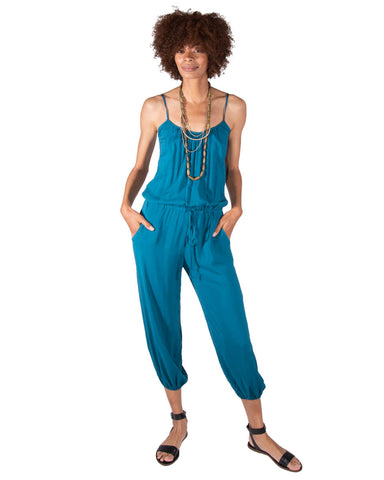 Playdate Jumpsuit in Indigo Seas