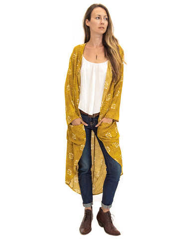Moon Bliss Kimono in Golden Blooms