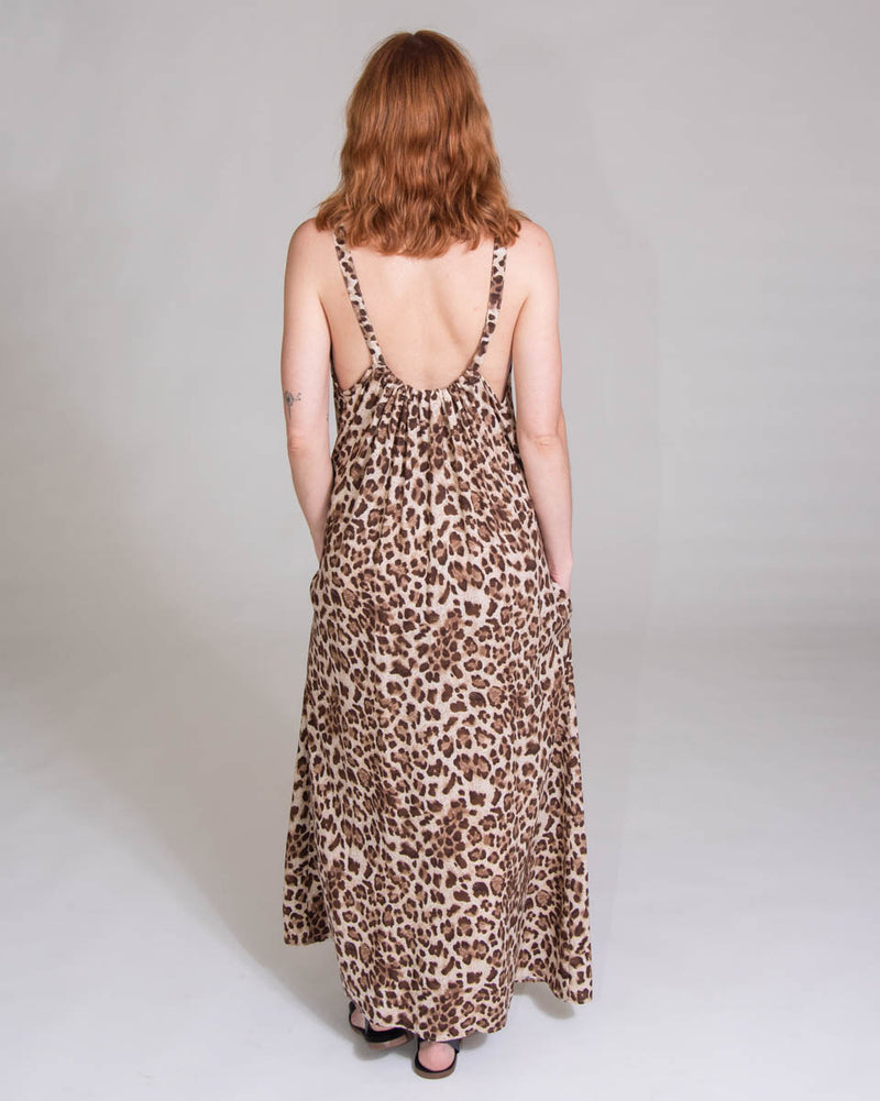 Eagle Dress in Leopard