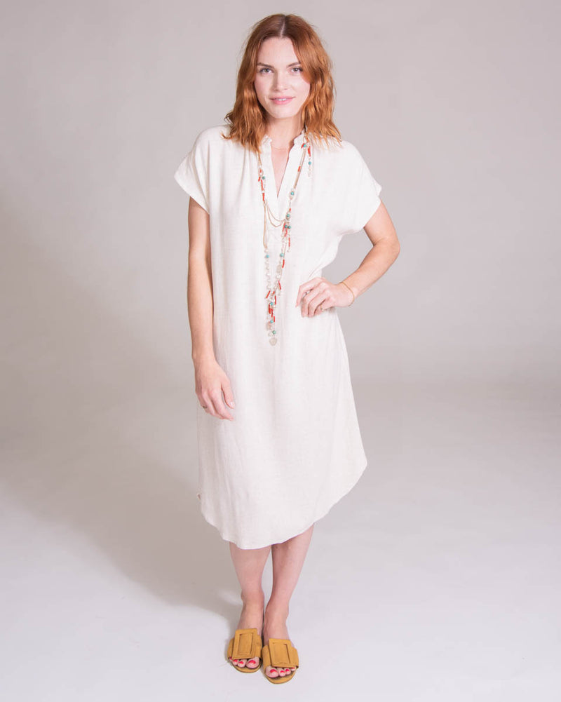 Travel Dress in Natural Linen