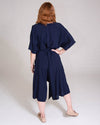 French Market Playsuit in Navy